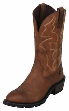 MENS ARIAT IRONSIDE DUSTED BROWN COWBOY WESTERN/ WORK BOOTS! 10005937
