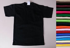 1 New Kids Boys Girls Plain T Shirt blank XS-3XL Childrens short sleeve tee