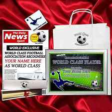 World Class Football Player CHRISTMAS PRESENT FOR MUM OR DAD XMAS
