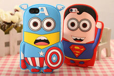 Hot Sale New Cartoon Hero Silicon Material Cover Case For iphone 5 5S 5C