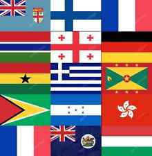 F-H COUNTRY FLAGS ALPHABETICAL - ALL SIZES - WORLD NATIONAL COUNTRIES LARGE