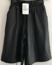 Urban Outfitters Sparkle and Fade Black PU Faux Leather Shorts UK XS S M RRP £50