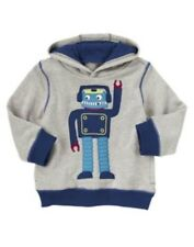 GYMBOREE DO THE ROBOT GRAY ROBOT PULL-OVER HOODY JACKET 6 12 24 2 3 4 5 NWT