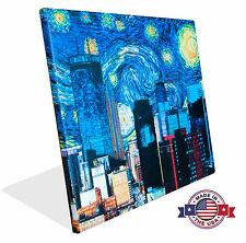 Canvas Print - Minneapolis Starry Night - Skyline - Gallary Wrap or Canvas Only