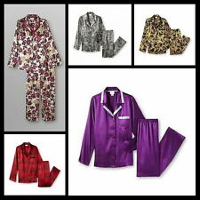 Jaclyn Smith Satin PJ Set Lounge Pants Silky Sexy Sleepwear NWT Reg & Plus Sz
