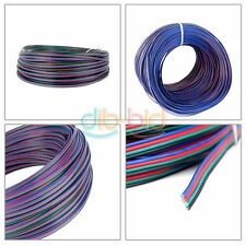 2/10/20/50M 4-Pin Cord Wire Extension Cable for RGB 3528 5050 LED Strip Light