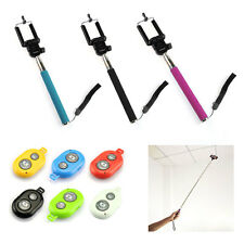Ultra Selfie Stick Extendable Monopod + Remote Shutter for iPhone Samsung HTC LG
