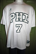 PJ MARK QUALITY MENS DESIGNER PHI PHILLY JERSEY STYLE T-SHIRT WHITE 3X4X5X NWT