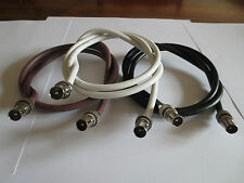 TV Ariel Lead video lead TV Lead, Ariel Cable made to measure 3 colours male