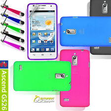 Matte Gel Case For Huawei Ascend G526 + Stylus ScGd TPU Skin Soft Jelly Cover