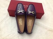 NIB Salvatore Ferragamo Fly Loafers in Patent Leather