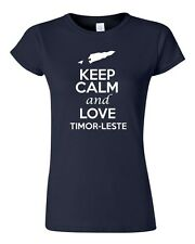 Junior Keep Calm And Love Timor Leste Country Patriotic Novelty T-Shirt Tee