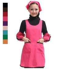 Apron with Front Pocket Back Cross Kitchen Cooking Craft Baking Art Adult Aprons