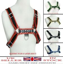 Mens REAL Leather Chest Body Harness Gay/Bondage/Club/Fetish CHOICE OF COLOUR