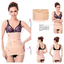 3 in 1 POSTPARTUM BODY SHAPER BELLY BELT WRAP FOR WEIGHT LOSS GIRDLE UK CORSET
