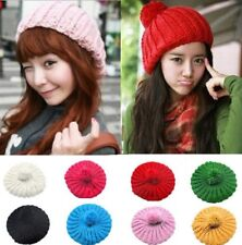 Lovely Warm Winter Women Girl Beret Braided Knitting Crochet Beanie Hat Ski Cap
