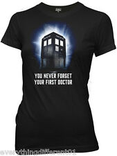 New Dr Who You Never Forget Your 1st Doc Womans T Shirt Science Fiction TV Movie