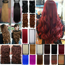 Mega Long Thick Clip in Hair Extensions Pieces Curly Straight Brown Red Blonde Y