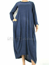 NEW Italian Soft KNIT Casual Lagenlook Parachute Maxi DRESS