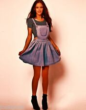 ATMOSPHERE  BLUE DENIM MINI PINAFORE DRESS 6 8 10 12 14 16 18 20 BNWT