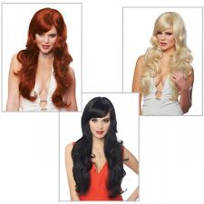 Long Wavy Wig Adult Womens Glamour Costume Cosplay Fancy Dress