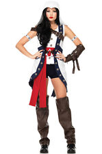 Brand New Assassin Creed Connor Girl Women Outfit Adult Costume