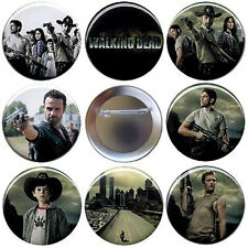 The Walking Dead Season 1 Set of 8 Buttons, Magnets or FlatBacks - Pins Badges