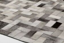 Bunkar Handmade Rich & Exclusive Cowhide Leather Grey Area Rugs Style Anodyne