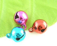 Wholesale Lots Mixed Christmas Bell Charms Pendants 8mm Dia.