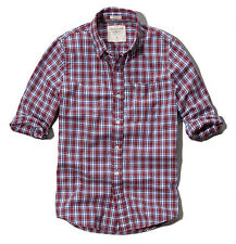 Abercrombie & Fitch Men Cobble Hill Plaid Button Down Shirt -Free $0 Ship