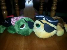 """NWT RUSS BERRIE LARGE 10"""" LIL PEEPERS SHELLY THE PIRATE OR SHECKY PIRATE TURTLE"""