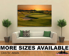 Wall Art Canvas Picture Print - Golf Course in Arizona at Sunset 3.2