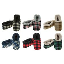 Mens Adult Snoozies Plaid Range Small Medium Large X-Large Novelty Slippers