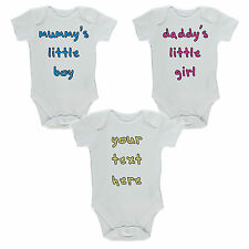 Personalised Baby Vest Grow, Any Text / Image Fun Gift Novelty