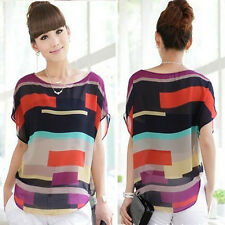 T9JC 1PC Sexy Women Summer Perspective Casual Loose Chiffon Tops Blouses T-Shirt