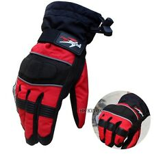 New Pro-biker Red  Breathable Waterproof  skiing Motorcycle Winter Warm Gloves