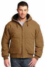 CornerStone Men's Interior Zippered Pocket Insulated Hooded Work Jacket. CSJ41