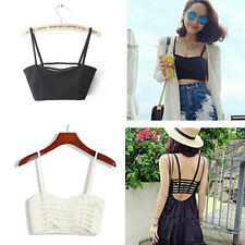 celebrity Sexy Bralette Cage Caged Back Cut Out Padded Bra Bralet Crop Top one