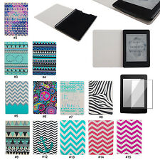 NEW Waves PU Leather Folio Case Cover For Amazon Kindle Paperwhite 1 2& 3G Wifi