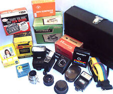 VINTAGE PHOTOGRAPHY ACCESSORIES Lens, Printer, Viewers, Flash  chose from  menu