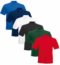 Men's Short Sleeve Plain Polo Shirts, 15 Colours in 7 Sizes, Best Quality Fabric