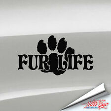 Fur Life Decal, Furdom, Fandom, Fursona, Yiff, Furry, Sticker, Choose Color