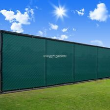 Privacy Mesh Fence Screen Windscreen Mesh Fabric Outdoor Yard Black Green IS6H