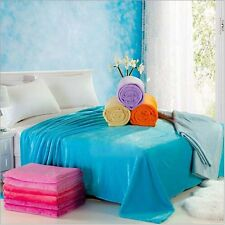 Double Sided Soft Plush Bed Sleep Blanket 9 Colors