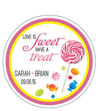 Food - Round Custom Favor Stickers/Labels - Wedding/Shower  - Personalized