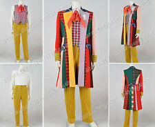 Doctor Is Who The 6th Sixth Dr Cosplay Costume Colorful Stripe Full Set Outfit