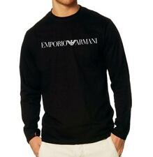 EMPORIO ARMANI Black Men's T-shirt Size: M, L, XL -Long Sleeve