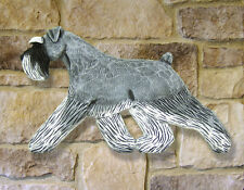Schnauzer (Natural) Wooden Hand Carved Wall Art Home, Living Room Dog Products
