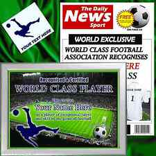 WORLD CLASS PLAYER CHRISTMAS FOOTBALL PERSONALISED GIFT FOR HIM DAD FATHER