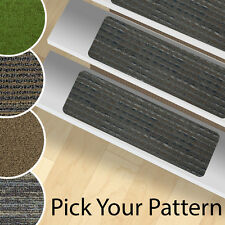 13 Stair Treads Peel and Stick Carpet Stair Rugs -  Indoor and Outdoor Use